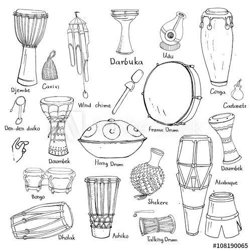drum sketches with names  drum drawing drums art drum