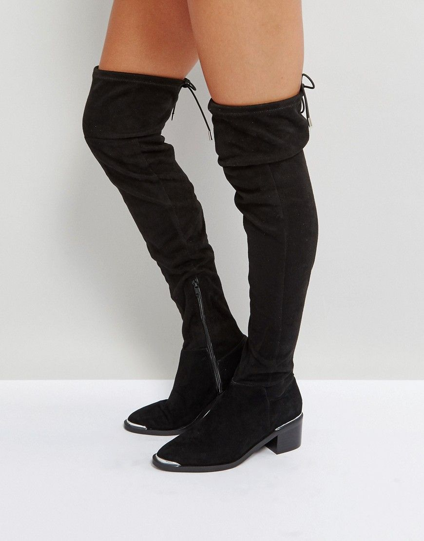 4fb38d33992 Office Karma Over The Knee Boots - Black