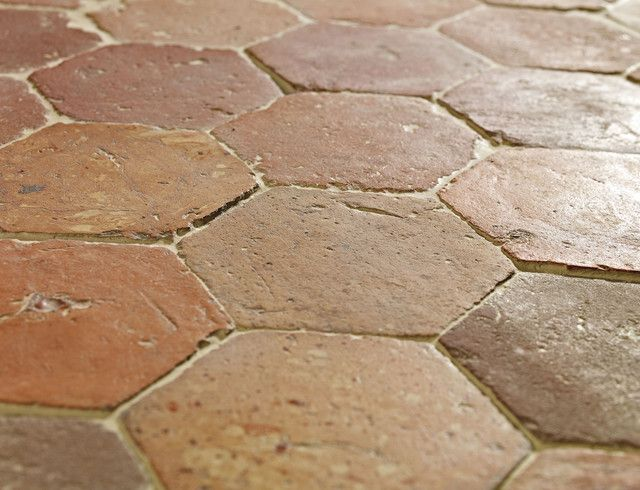 French Terracotta Hexagon Beautifully Tessellated 17th Century