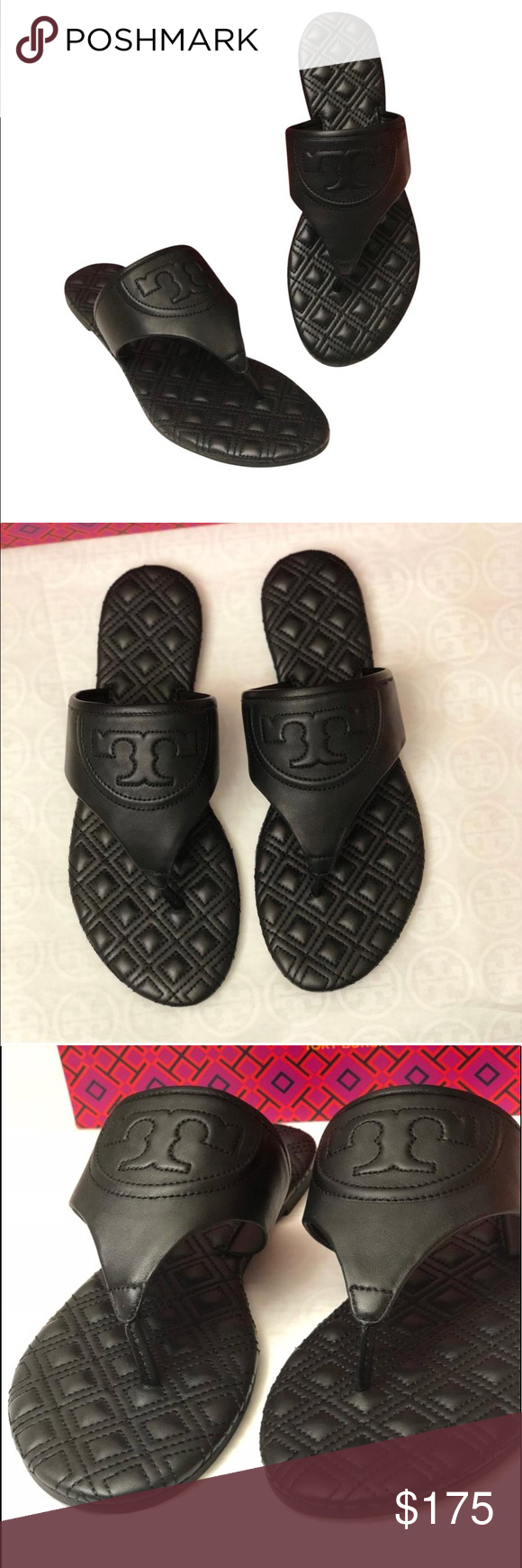 5498ccf6f Tory Burch Fleming Quilted Flat Thong Sandals. Brand New with box