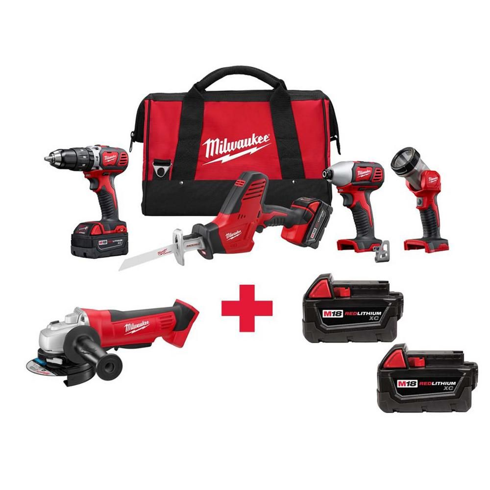 Milwaukee M18 18-Volt Lithium-Ion Cordless Combo Kit (4-Tool) with