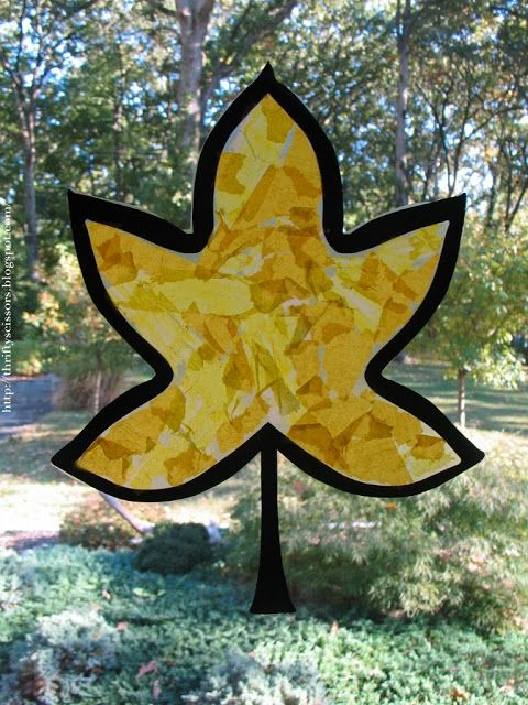 Thrifty Scissors: A Fall Leaf Craft for Two and Three Year