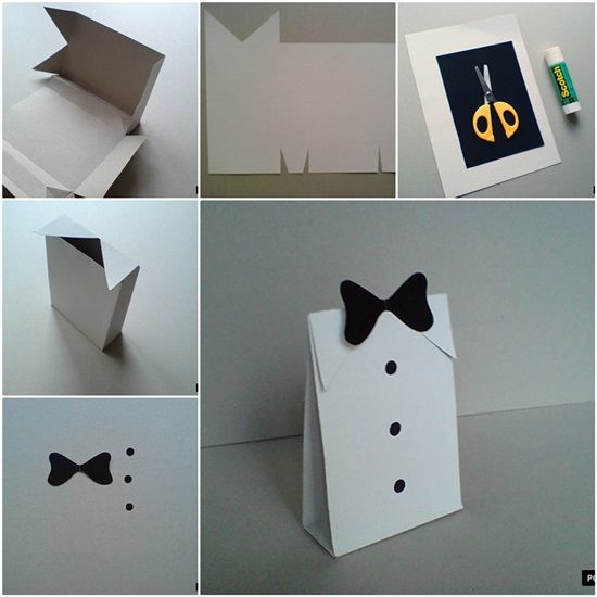 DIY Folded Paper Gift Bag for Men | Paper gift bags, Paper gifts ...