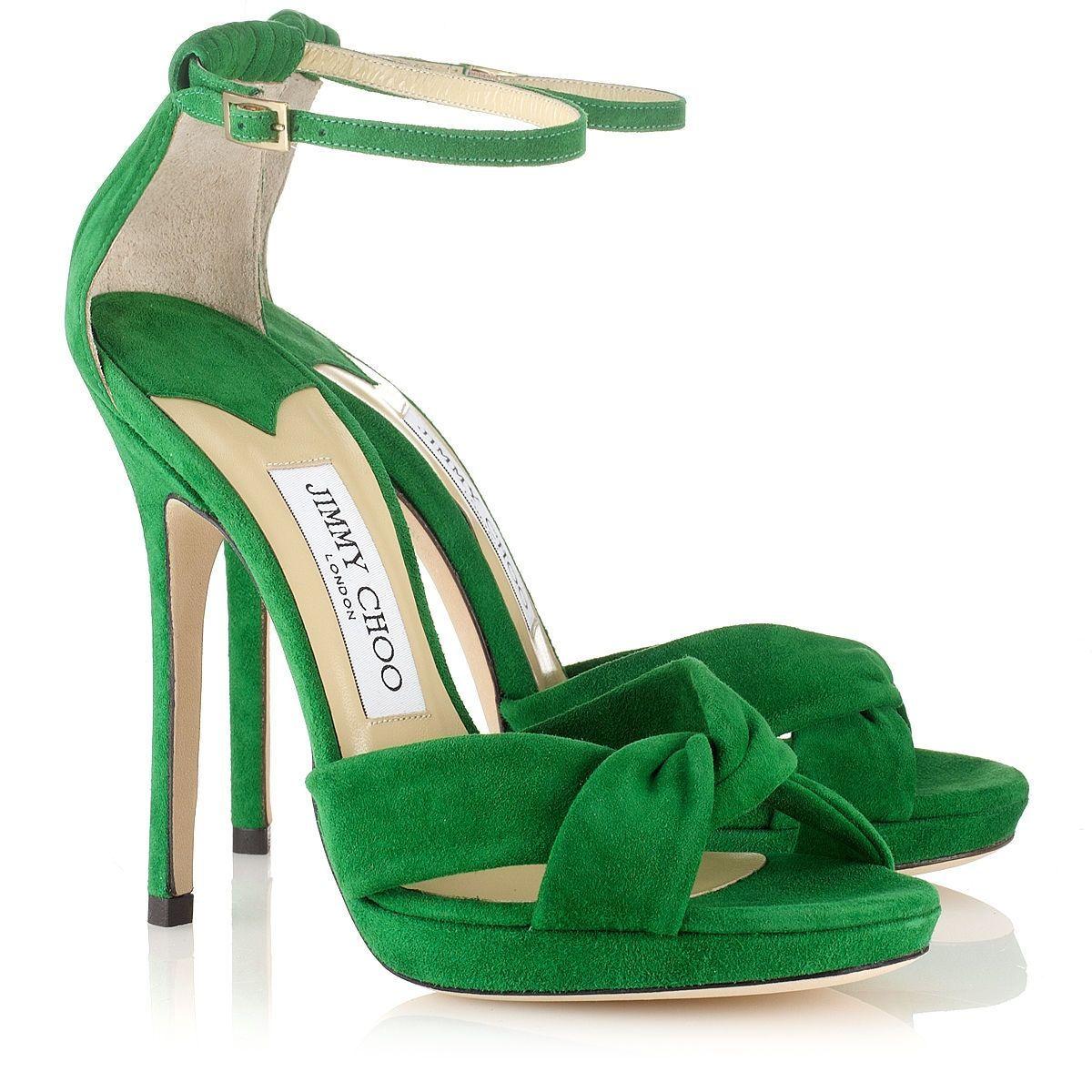6fb997d365c Jimmy Choo - Jada - 132jadasue - Emerald Suede Platform Sandals ...