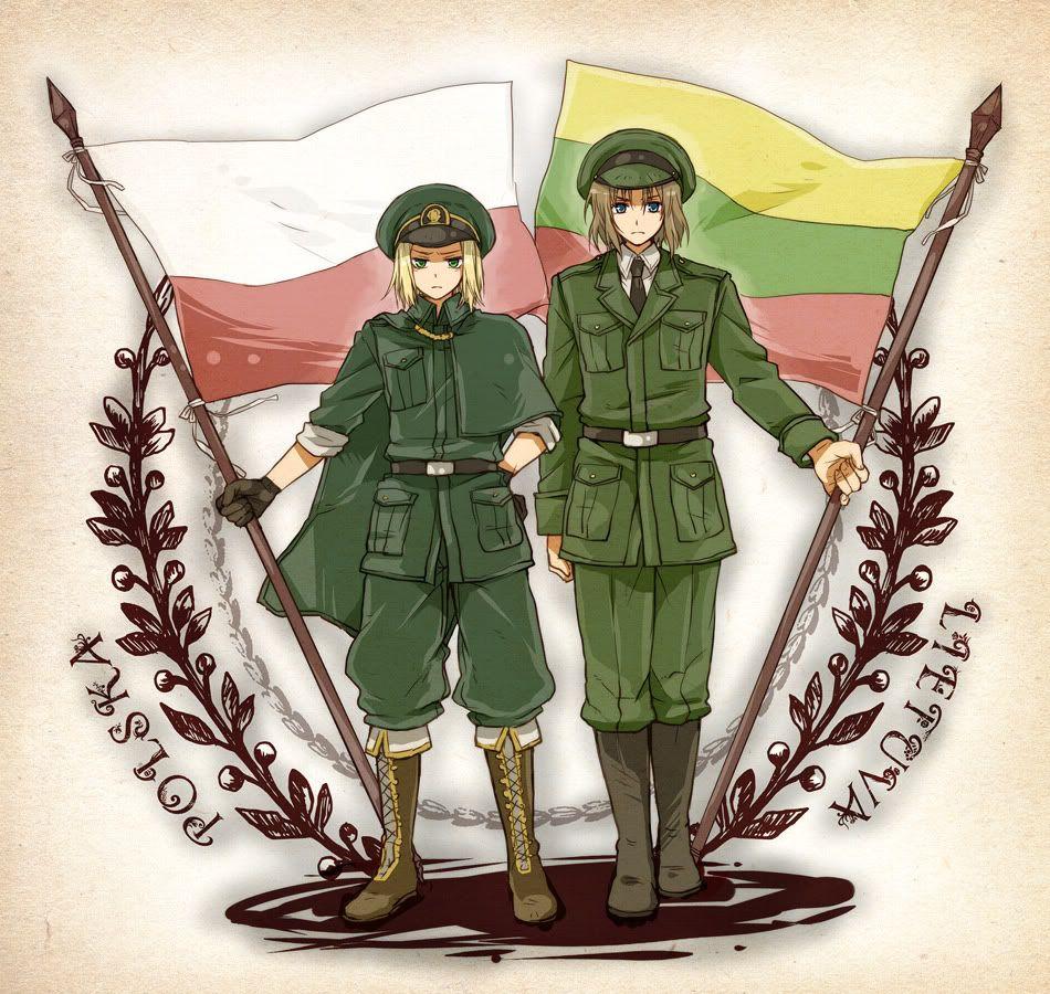 Polska and Lietuva.
