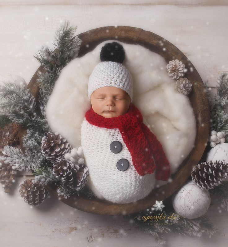 Photo of Newborn Christmas Outfit Snowman