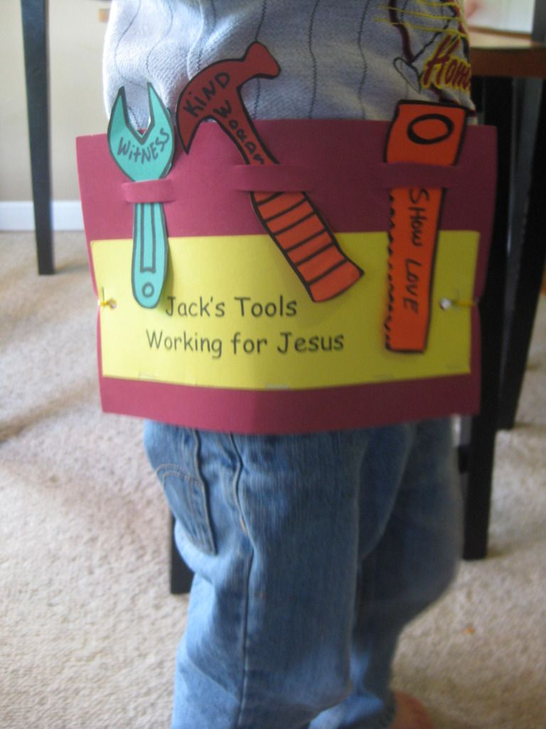 Crafts for sunday school class - Working For Jesus Sunday School