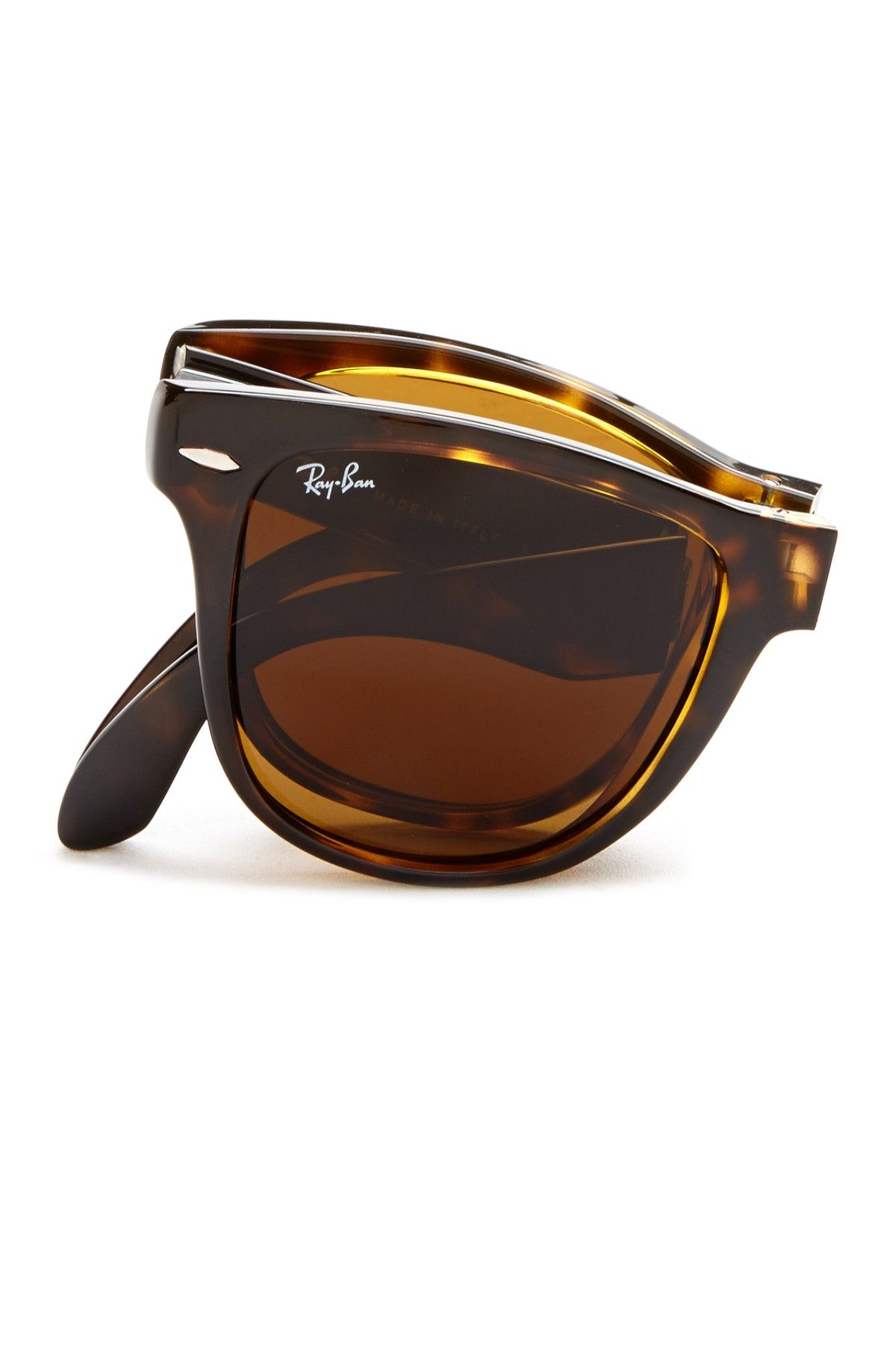 09be0094ca Unisex Folding Wayfarer Tortoise Shell Plastic Sunglasses on HauteLook. Ray  Ban ...