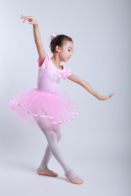 b234f497f Kids girls ribbon cotton tulle pink raspberry ballet tutu skirt ...