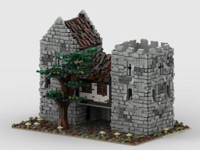 Lego MOC Medieval Castle Custom Model instructions, NO ...
