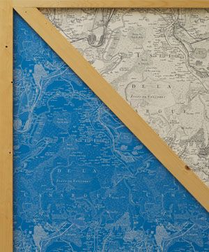 Inspired by an antique map of Camargue; the region in which Arles is ...