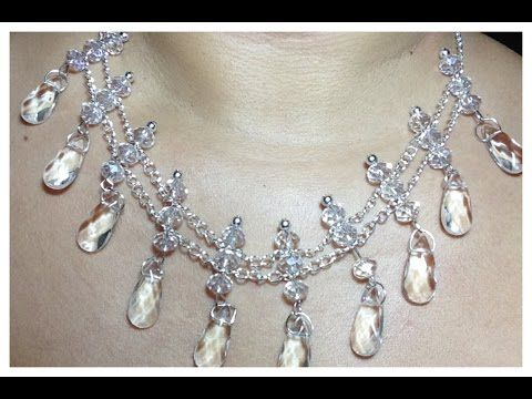 0e4a9f3aee27 GARGANTILLA PERLAS Y CRISTAL SWAROVSKI-PEARLS AND SWAROVSKI CRYSTAL  NECKLACE - YouTube