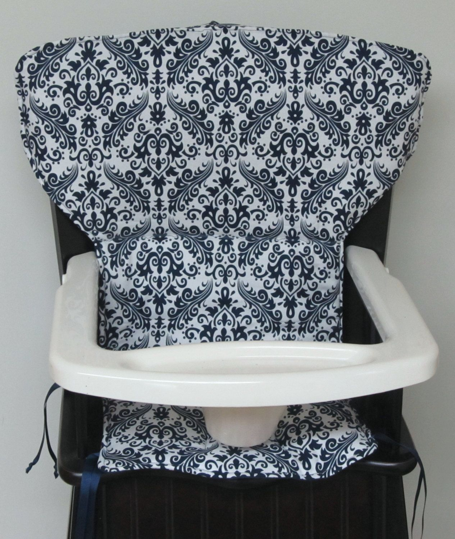 Eddie Bauer wood chair pad, high chair cover, newport wood