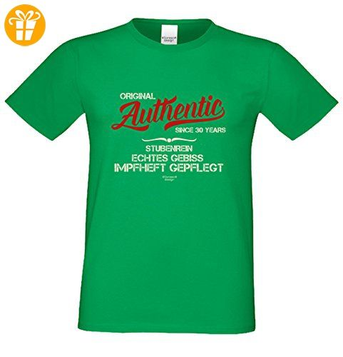 tolles Herren Männer Fun T-Shirt Motiv Authentic Since 30 Years cooles Geschenk  Mann Geburtstag