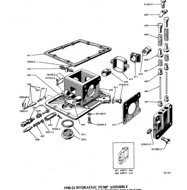 ford jubilee tractor hydraulic diagram