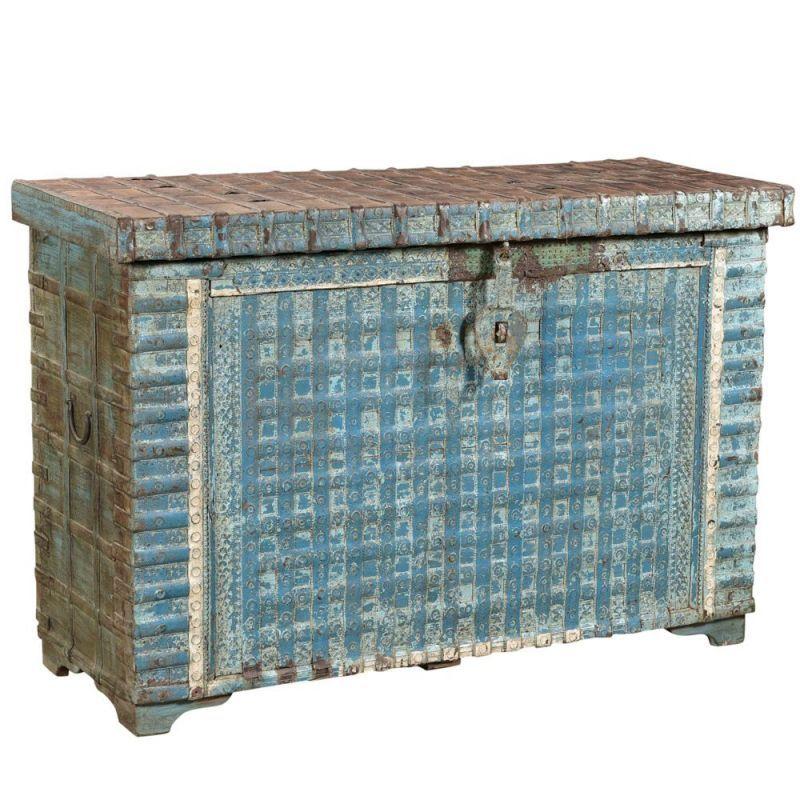 Grand Coffre Indien Ancien Console 131cm 144601 Coffre Mobilier De Salon Mobilier Indien