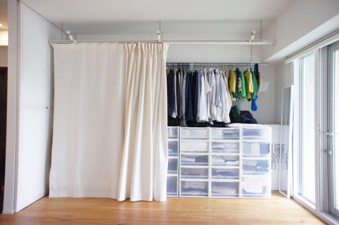 小さいベッドルームの寝室収納技 | ミニマル、建築設計事務所 ...