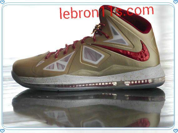 New Lebron 10 (X) Gold MVP Champ PE