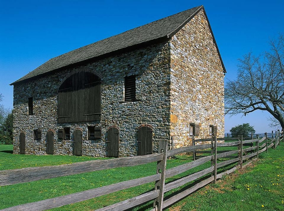 This beautiful stone barn is located in Oley Valley ...