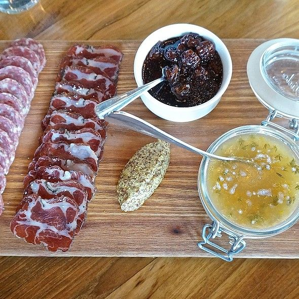 Charcuterie board from Perennial Virant, with seasonal fruit mostarda
