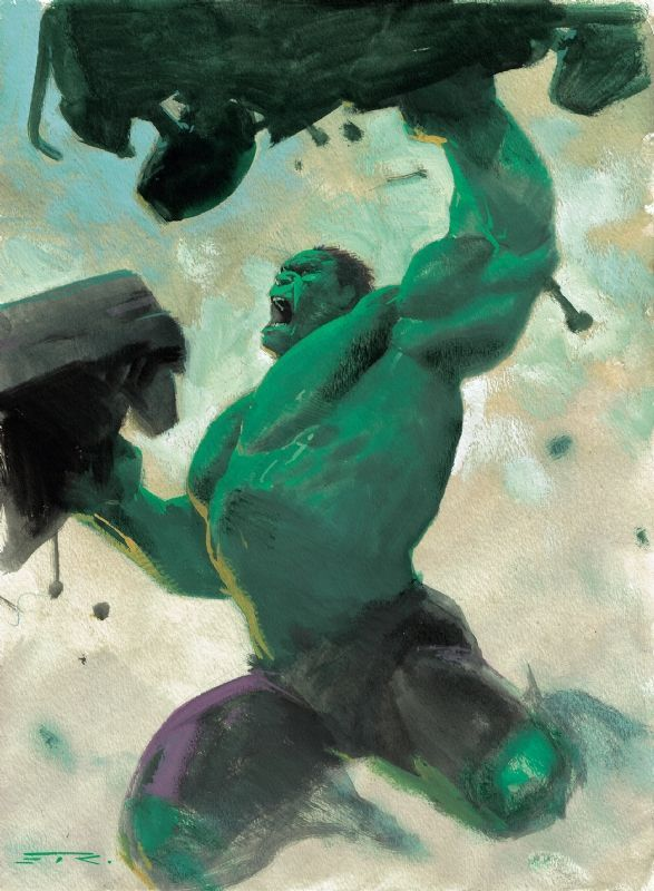 #Hulk #Fan #Art. (The Hulk) By: Esad Ribic. (THE * 5 * STÅR * ÅWARD * OF * MAJOR ÅWESOMENESS!!!™)