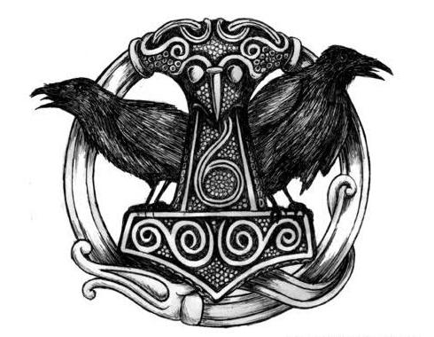 Huggin And Muninn Tattoo Designs