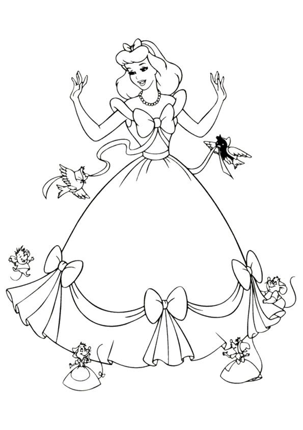 Print Coloring Image Momjunction Cinderella Coloring Pages Disney Princess Coloring Pages Princess Coloring Pages