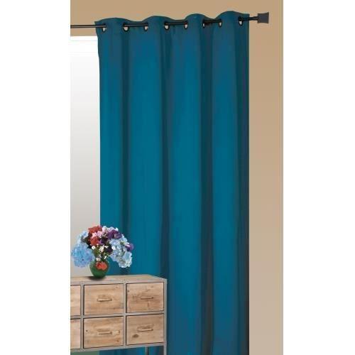 rideau isolant thermique p trole 140 x 260 cm rideau isolant thermique rideau isolant et rideaux