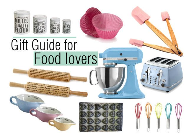 """Gift Guide: Food Lovers"" by misskali ❤ liked on Polyvore featuring interior, interiors, interior design, дом, home decor, interior decorating, KitchenAid, Typhoon, DeLonghi и BergHOFF"