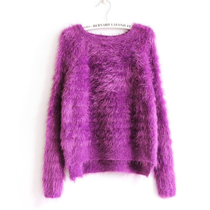 Women Elegant Knitted Mohair Sweaters And Pullovers Ladies Warm Autumn Winter Knitwear Fashion Brand RAD5017