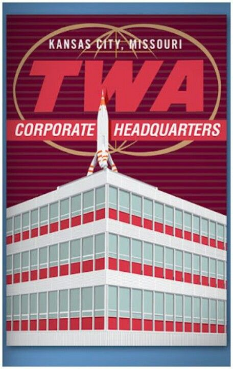 Kansas City Mo Twa Headquarters Building Rocket Previously