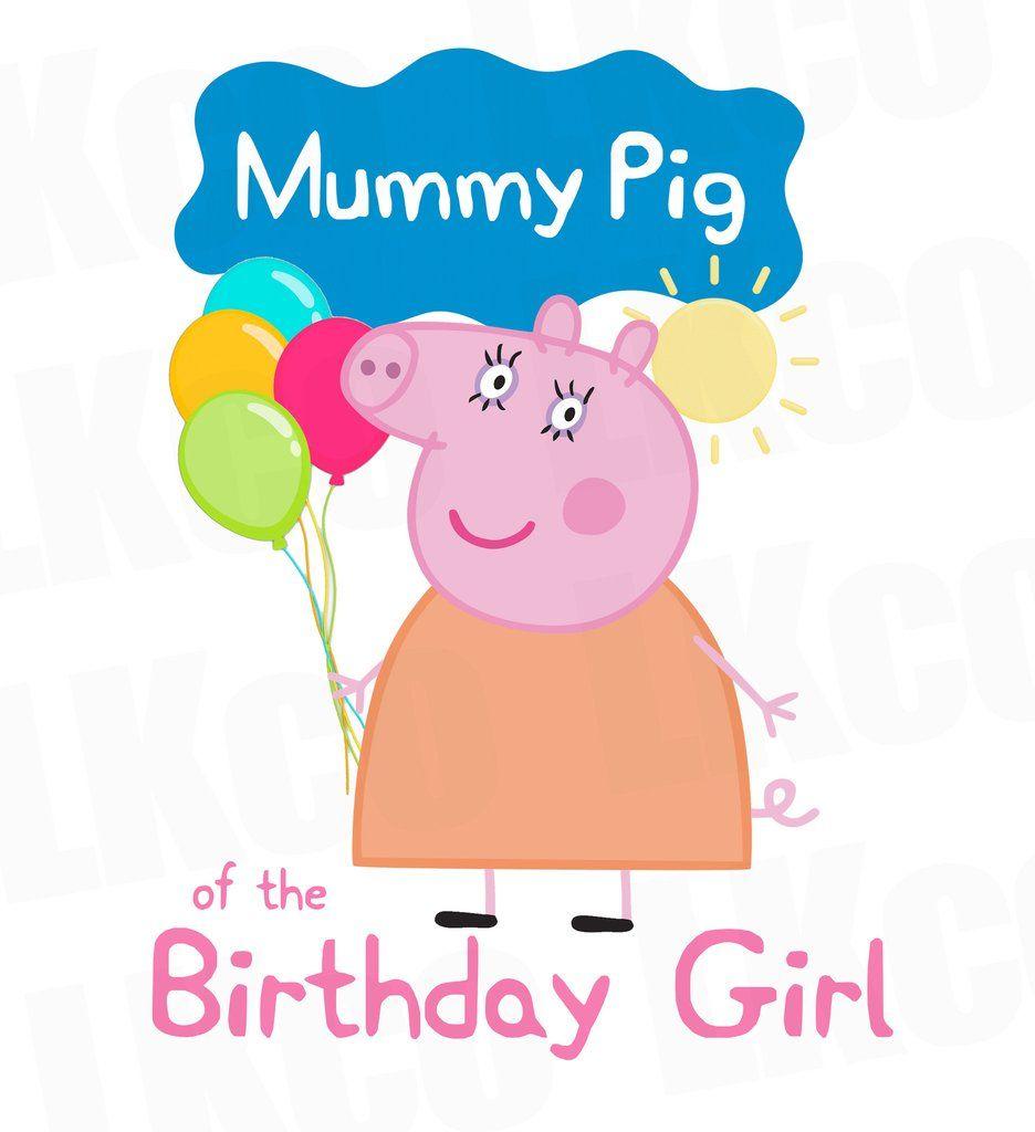 5401f66f7d3 Peppa Pig - Mummy Pig Iron On Transfer Birthday Shirt