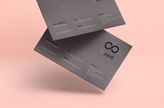 A Very Subtle And High Quality Floating Psd Business Card Mockup To