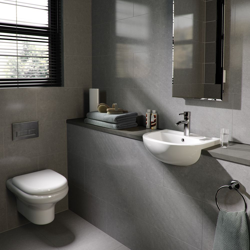 A chic and simple suite perfect for cloakrooms - the Compact Wall ...