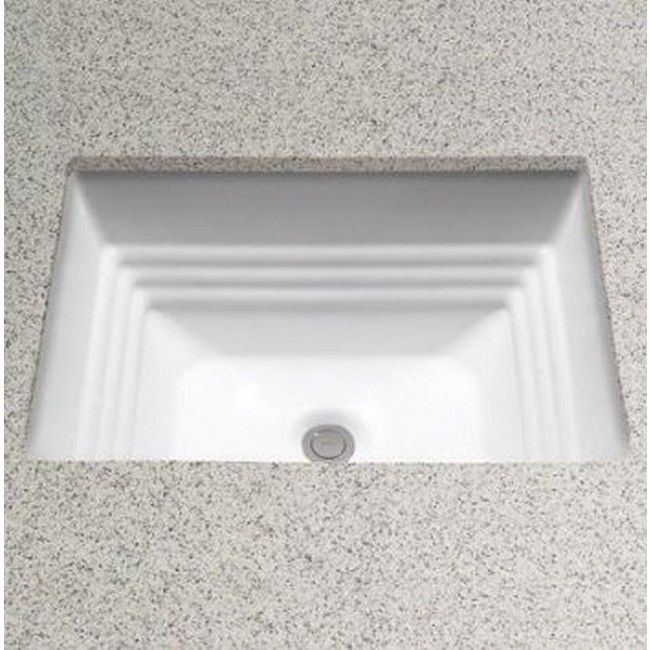 Toto Promenade Rectangular Undermount Bathroom Sink Cotton White Lt533 01 Undermount Bathroom Sink Sink Undercounter Sink