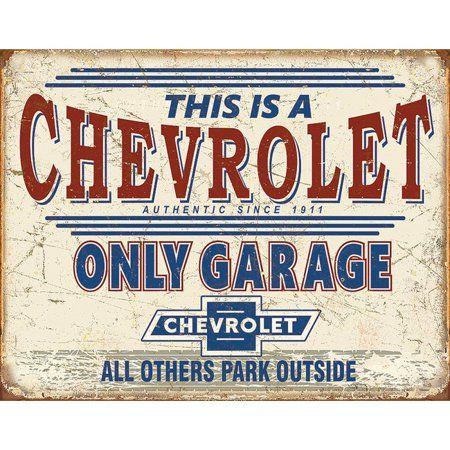 Chevy Only Garage Classic Chevy Trucks Garage Signs Vintage Trucks