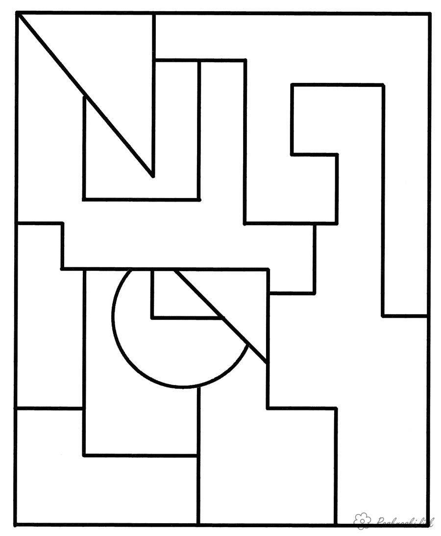 Färg färg geometriska former Geometriska former, färg