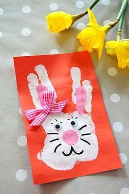carte de paques maternelle Carte Empreinte Lapin | Carte de pâques maternelle, Carte de