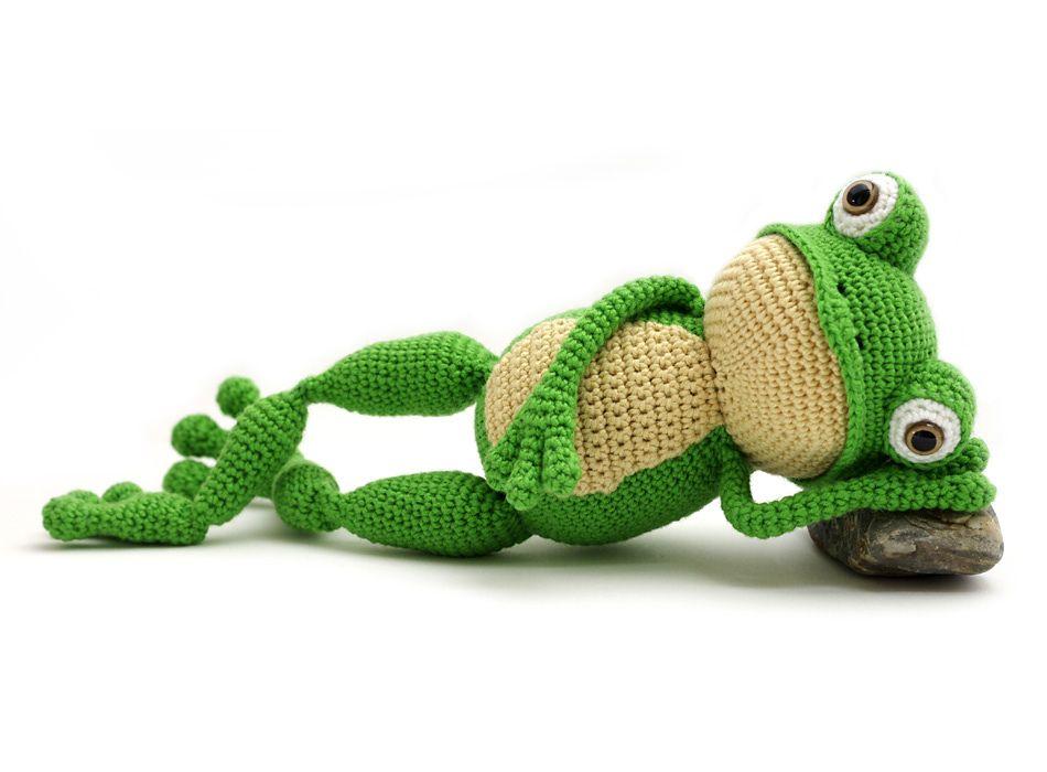 Fritz the Frog pattern by Vera - YukiYarnDesigns | Häkeln ideen ...