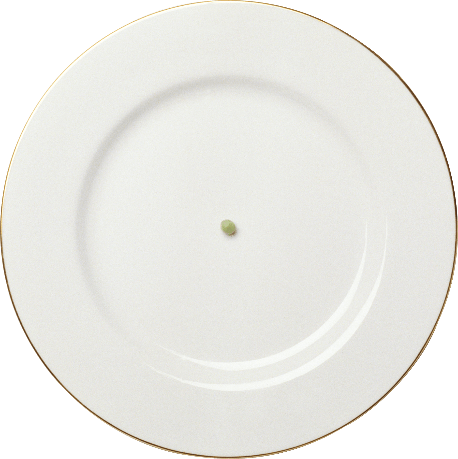 White Plate With Golden Frame Png Image