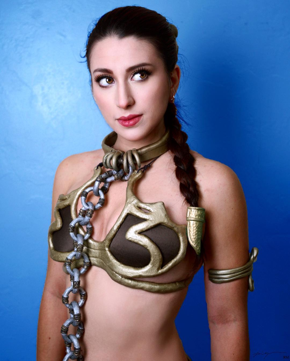 Very star wars princess leia slave cosplay apologise