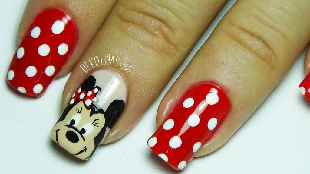 Decoración de uñas Minnie Mouse | Minnie, Uñas minnie y Minnie mouse
