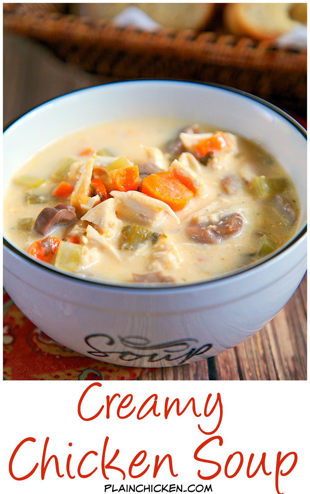 Creamy Chicken Soup Creamy Chicken Soup Plain Chicken Recipe Creamy Chicken Soup Recipe