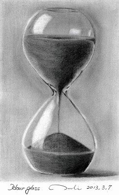 Hourglass drawing  PENCIL-SKETCH GALLERY: Life ~ sand in the hourglass | Art ...