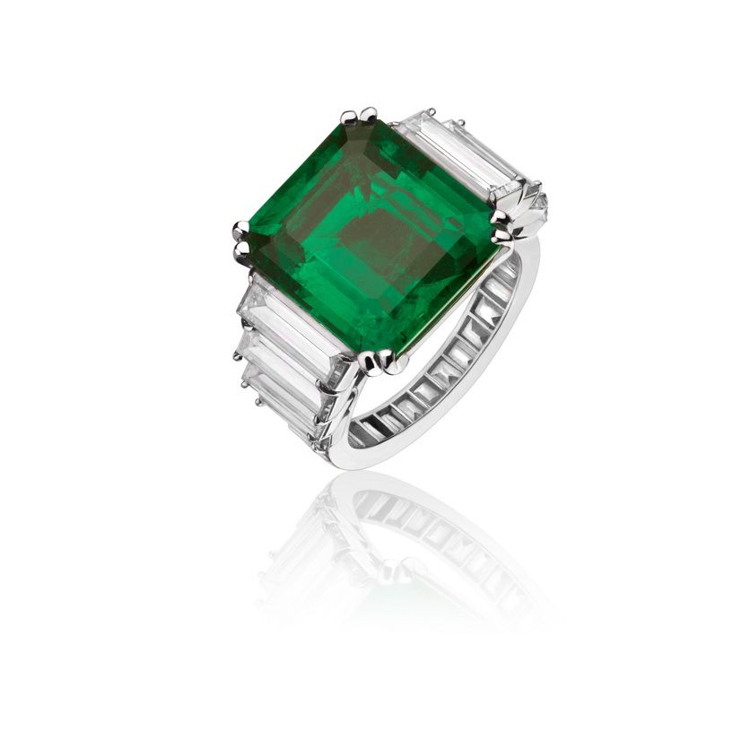 #AlexanderReza #ring #emerald and #diamonds