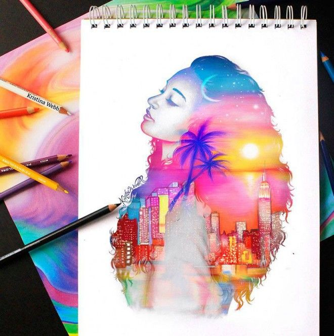 25 Beautiful Color Pencil Drawings And Creative Art Works By Kristina Webb Colorful Drawings Creative Drawing Kristina Webb Art