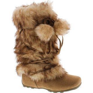Blossom Womens Tara-Hi Pom Pom Winter Fashion Boots