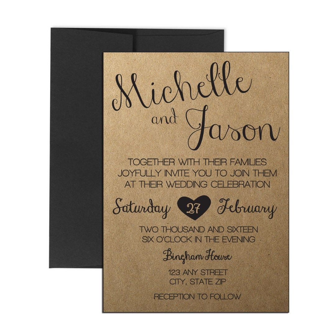 Cursive Rustic Wedding Invite Click Through To Find Matching Games