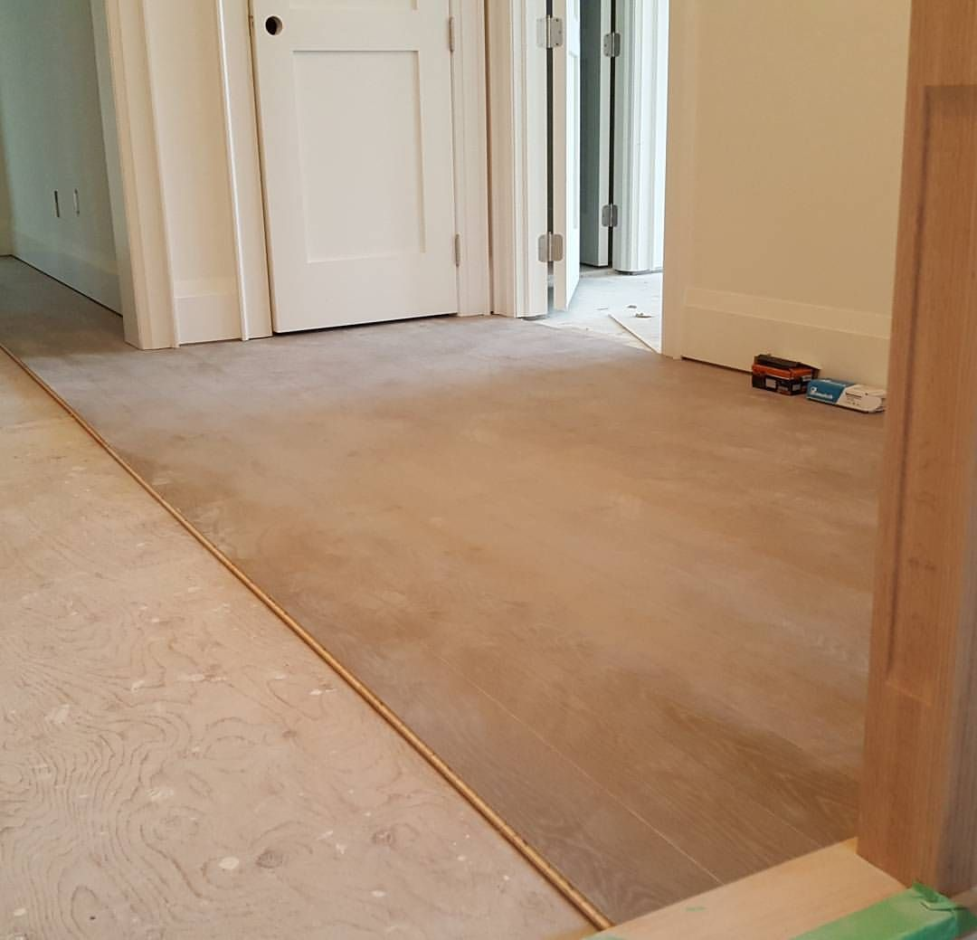 Wire Brushed White Oak Installation Hardwoodfloors Hardwoodflooring Flooring Toronto Torontobuilds King Hardwood Floors Flooring Types Of Hardwood Floors