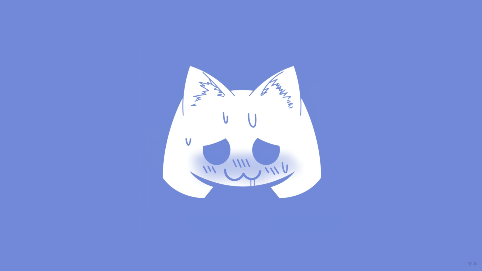 Logo Discord Digital Art Cat Ears Simple Background Blue White Sweat 1080p Wallpaper Hdwallpaper Desk Digital Art Software Simple Backgrounds Art Blog